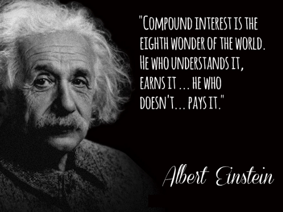 albert einstein compounding interest quote